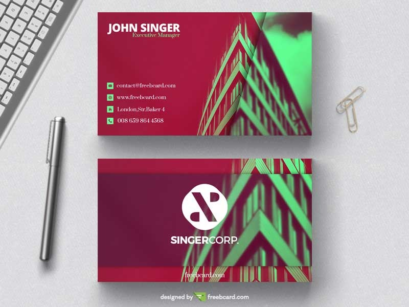 Architects business card template freebcard in free business card template technology wajeb Image collections