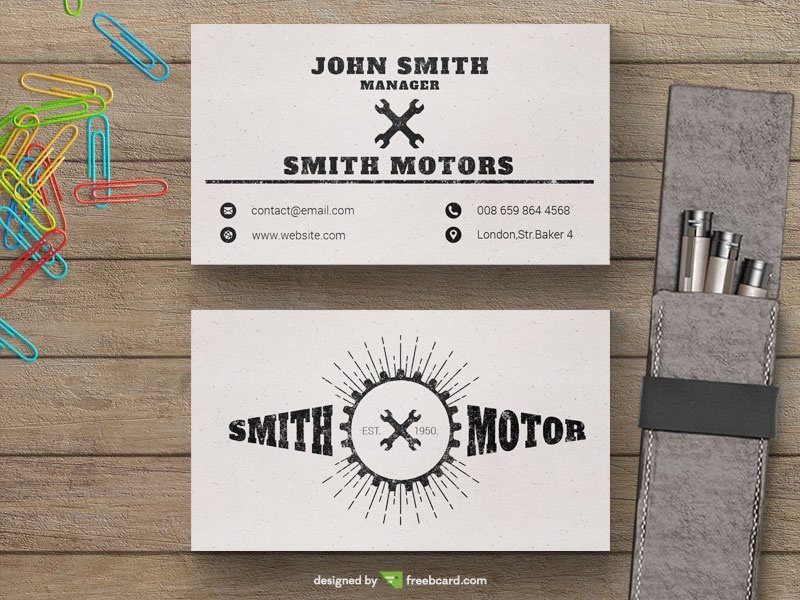 Car service business card freebcard colourmoves