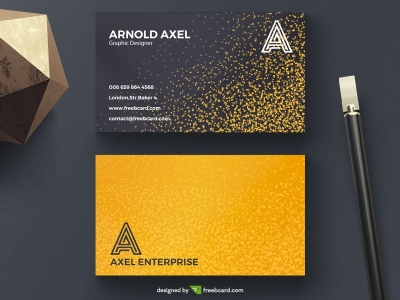 Golden glitter business card