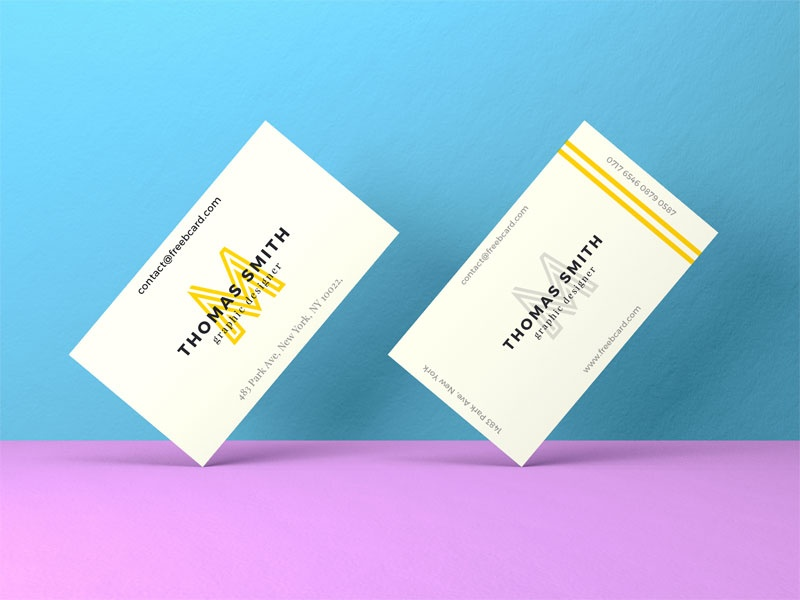 Realistic Business Card Mock-Up #01 - Freebcard