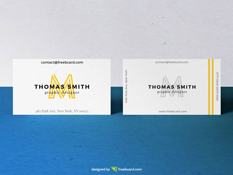 Realistic Business Card Mock-Up #02 - Freebcard