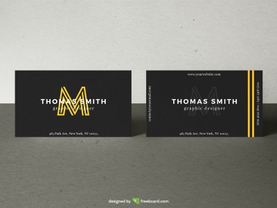 Realistic Business Card Mock-Up #03