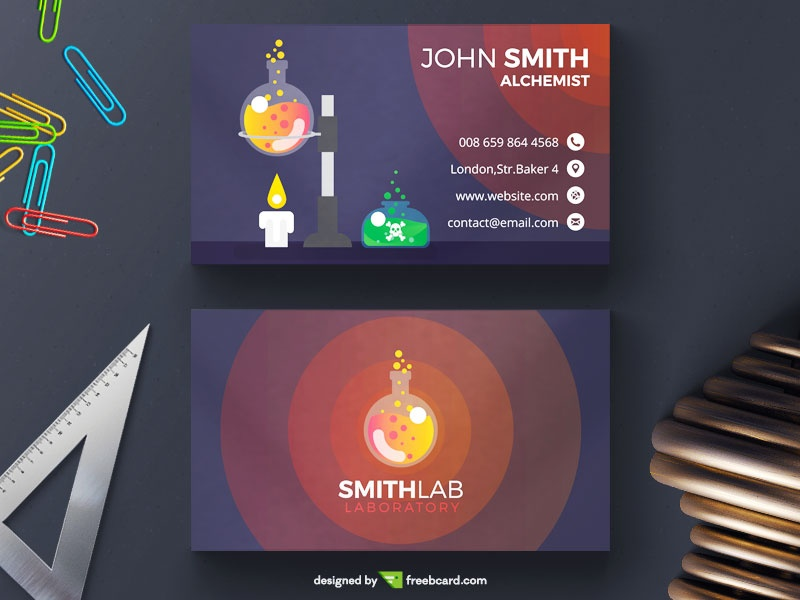Creative Laboratory Visit Card Template - Freebcard