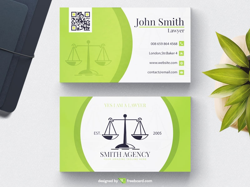 Lawyer business card freebcard green lawyer business card freebcard fbccfo Images