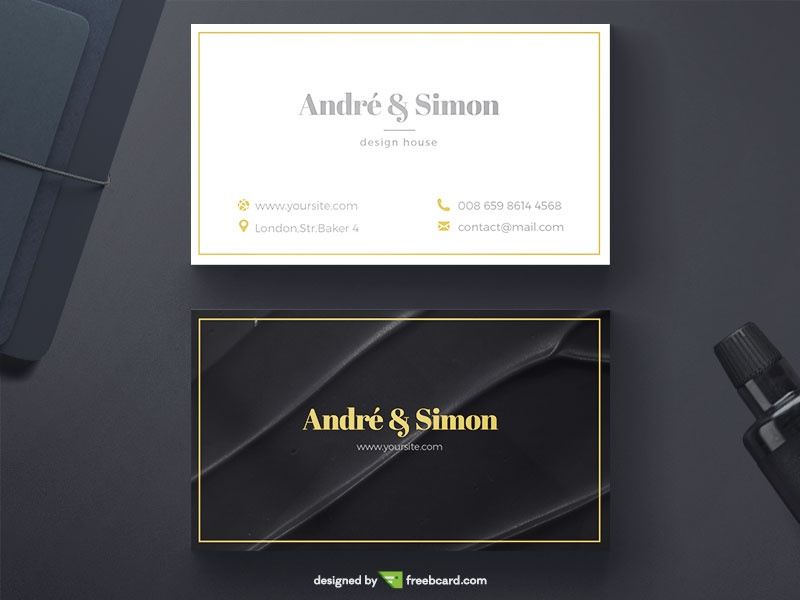 Elegant simple business card - Freebcard
