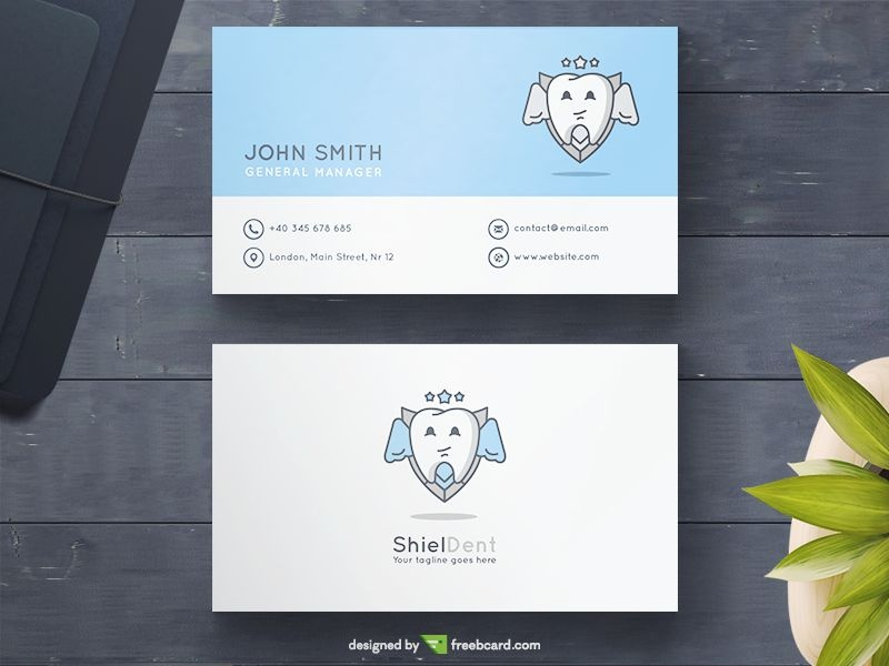 Download free medical health business card templates freebcard blue dental business card flashek Choice Image