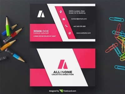 Creative free business card templates business card photography magenta business card design maxwellsz
