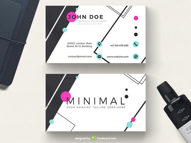 Black And White Minimal Business Card - Freebcard