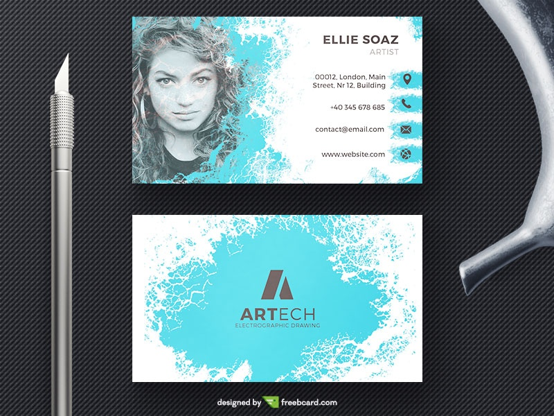 Business Card With Woman Face - Freebcard