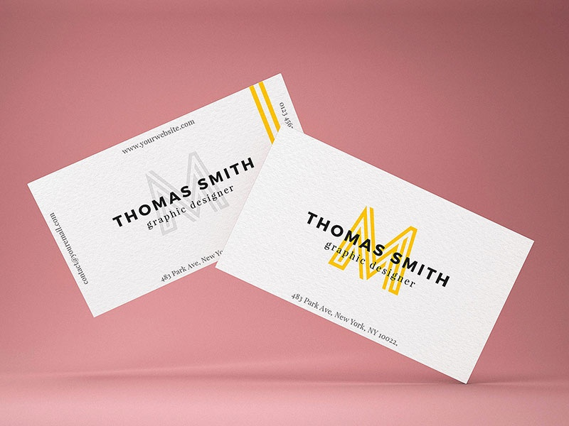 Business Card MockUp Template Freebcard - Ups business card template