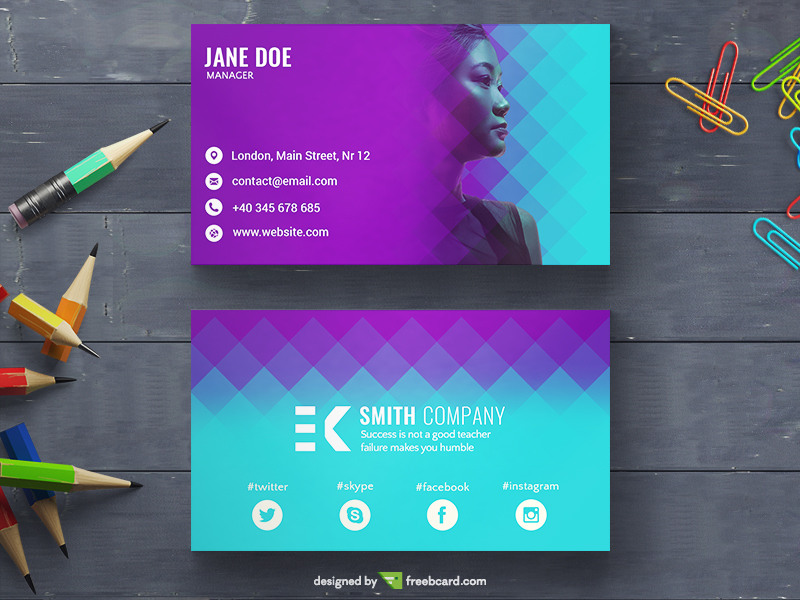 Creative Color Transition Business Card