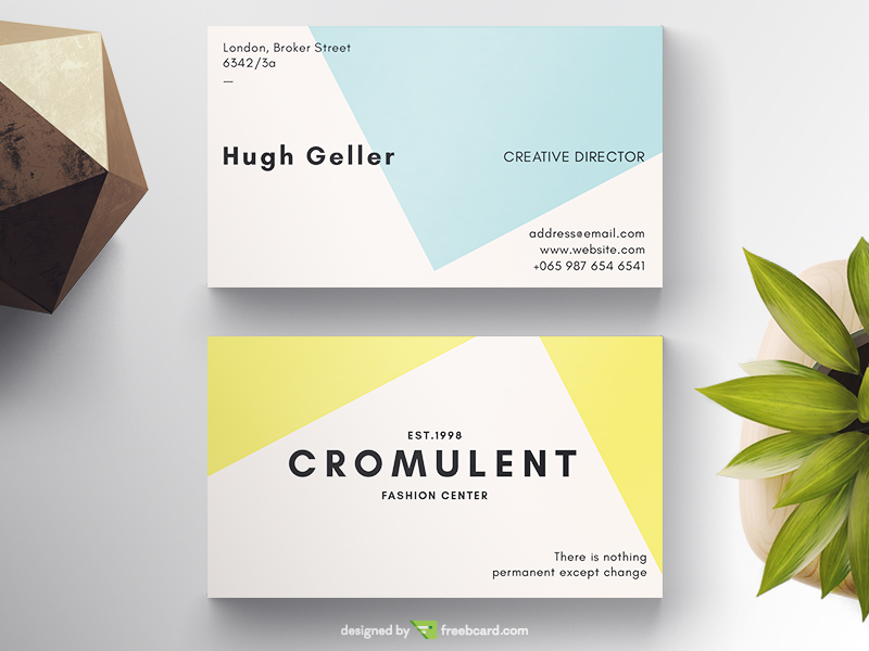 in free business card template business - Minimal Business Card