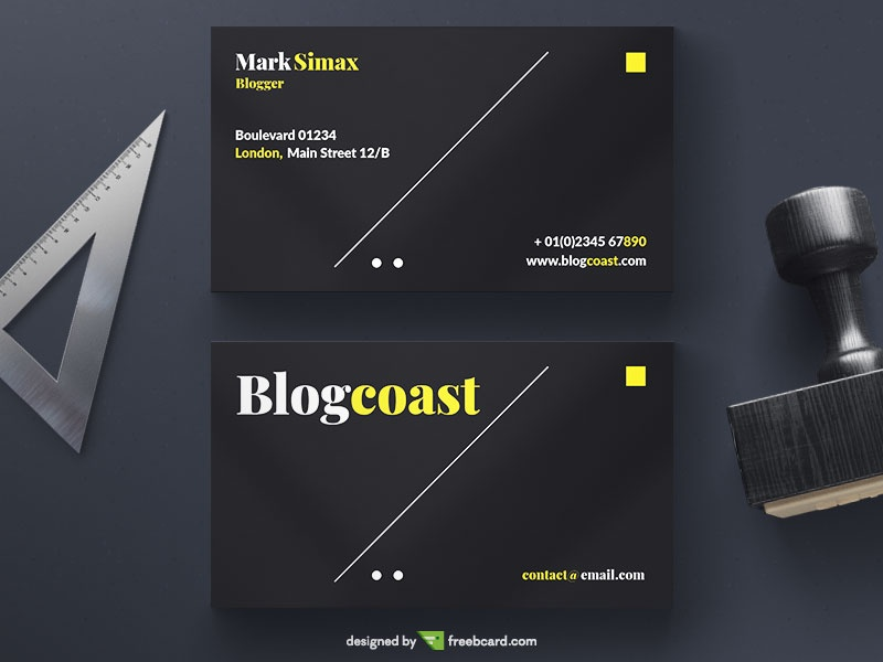 Simple Business Card Template Freebcard - Email business card templates