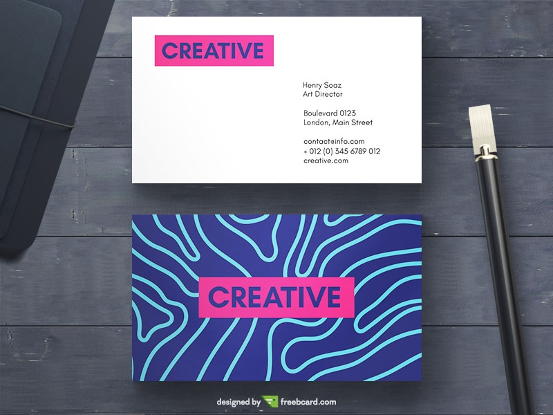 Creative Vivid Business Card  - Freebcard