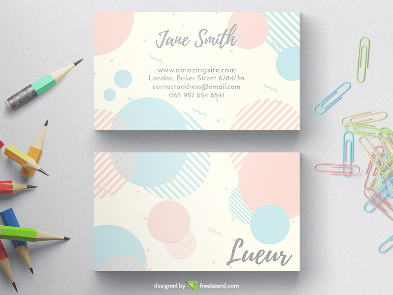 Pastel Business Card - Freebcard