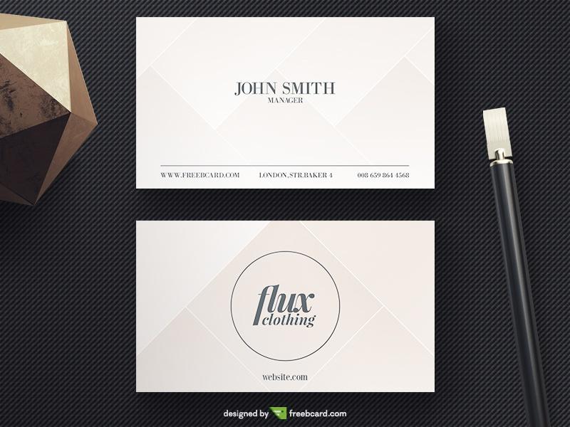 Gentle Beige Business Card - Freebcard