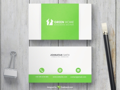Green Smart Home Business Card