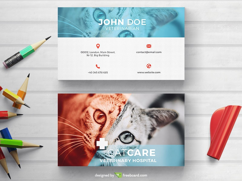 Veterinarian business card freebcard colourmoves