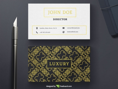 Black And White Luxury Business Card