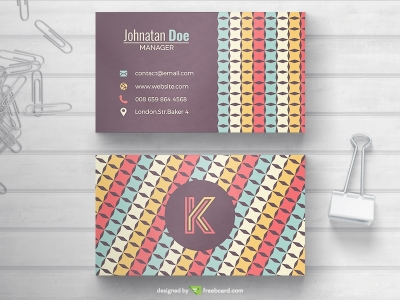 Business Card With Colorful Pattern