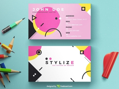Creative Geometric Business Card
