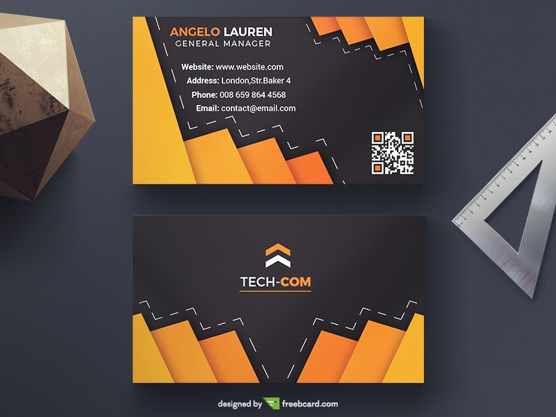 Dark Elegant Business Card - Freebcard