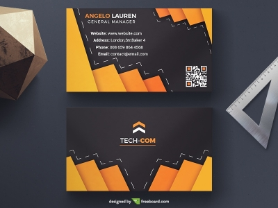 Dark Elegant Business Card