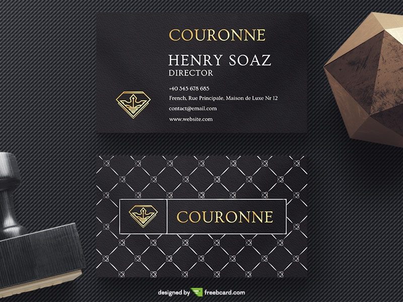 Download FREE Luxury Business Card Templates - Freebcard.com