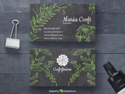 Botanical Business Card