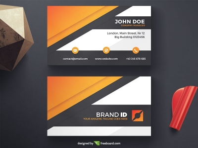 Creative free business card templates business card photography black and orange corporate business card fbccfo Image collections