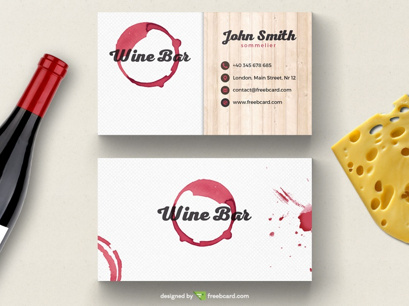 Wine bar business card template freebcard flashek Image collections
