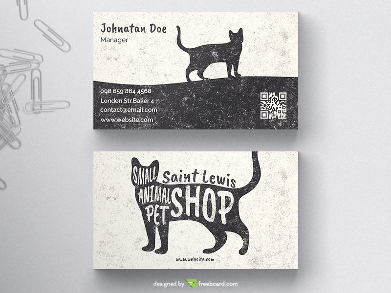 Pet Business Card Freebcard