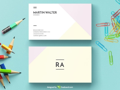 Light Minimal Business Card Template