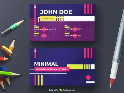 Colorful And Messy Geometric Business Card