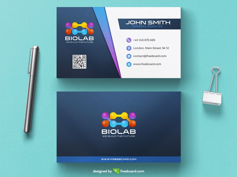 Dentist business card template freebcard modern biology business card template accmission Gallery