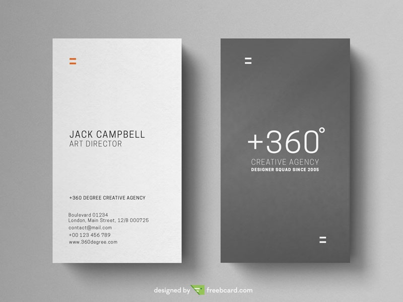 Grey and white vertical business card freebcard in free business card template creative fbccfo Gallery