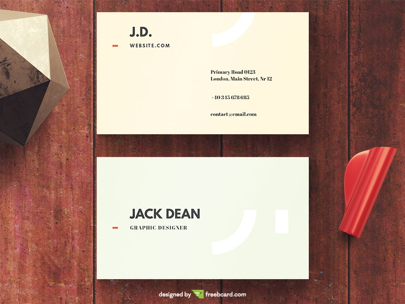 Business card template freebcard basic business card template freebcard colourmoves Images