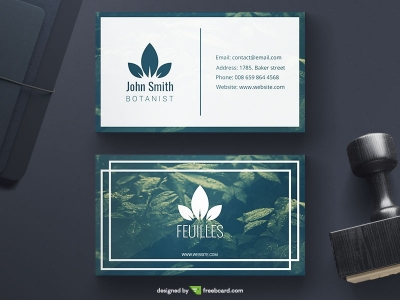 Green Botanical Business Card