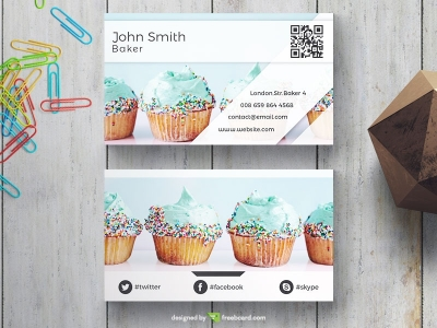 Blue Muffin Business Card