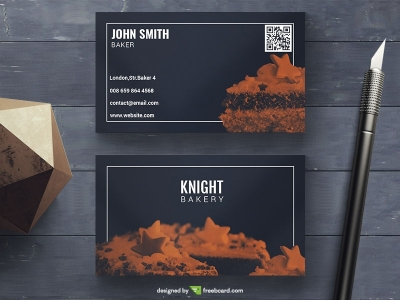 Elegant Bakery Business Card