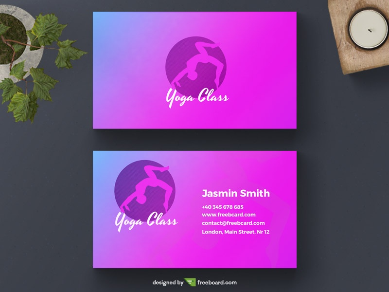 Yoga business card template - Freebcard