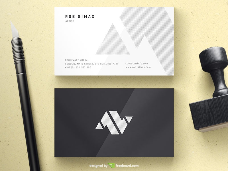 Free download editable business card templates freebcard elegant minimal business card flashek Gallery