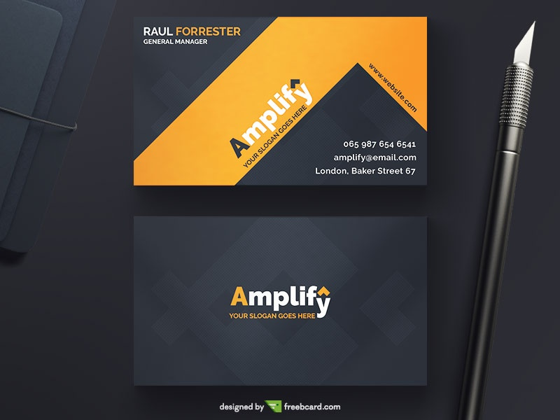 Free download editable business card templates freebcard amplify corporate business card colourmoves