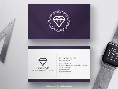 Deep Purple Luxury Business Card