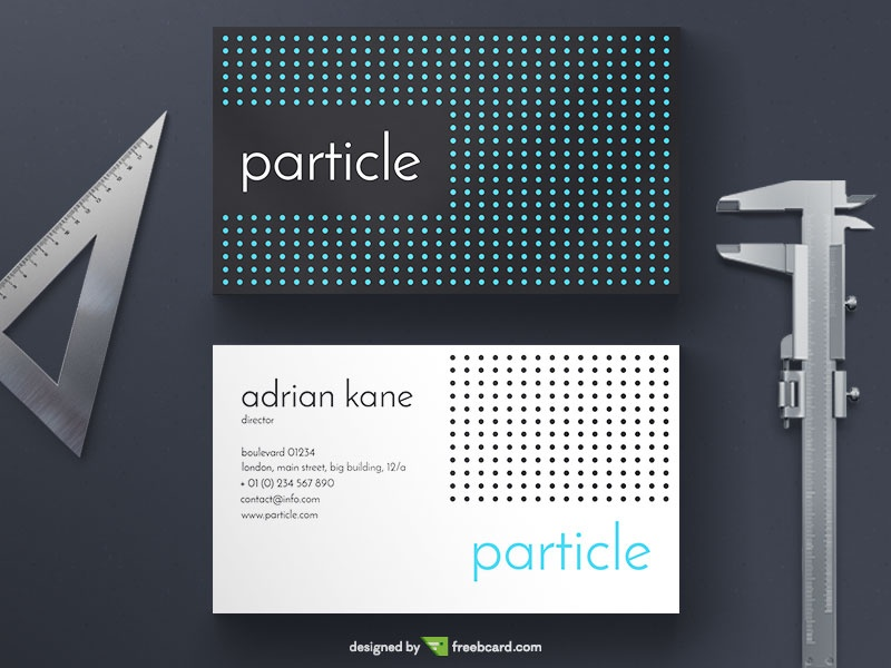 Free business cards creative free business card templates business particle business card reheart Image collections