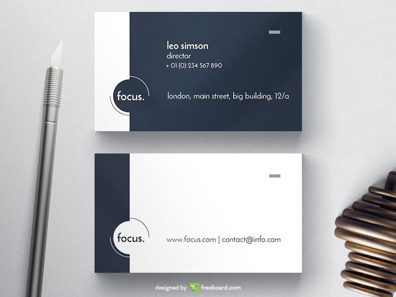 Focus Business Card - Freebcard
