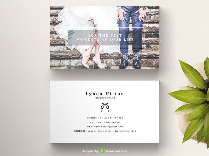 Wedding Photography Business Card - Freebcard