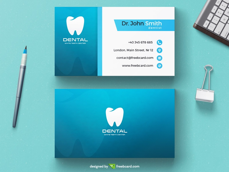 Dentist business card template - Freebcard