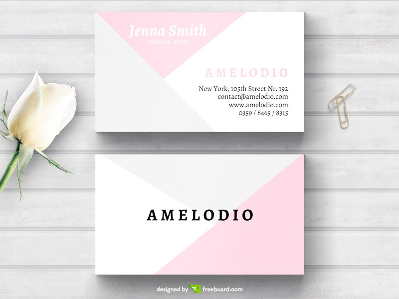Minimal fashion business card freebcard in free business card template beauty fashion cheaphphosting Images