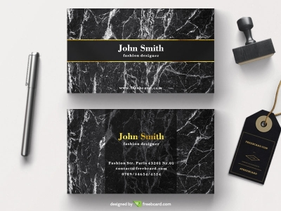 Luxury business card on marble background